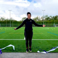 England rugby international opens school's new pitch