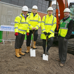 BAM breaks ground at Coventry University's Science & Health Building