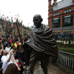 Mahatma Gandhi statue unveiled in 150 year of his birth