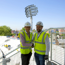 Lucky Trainee's first two jobs are new stand at Lord's and Manchester City Football Academy