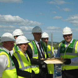 Topping out of new £10.5m UTC building, Newton Abbot