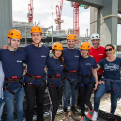 BAM's Three Snowhill team abseils 200 feet to help Birmingham homeless charity