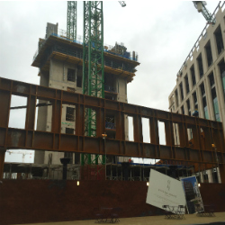 Massive trusses form perimeter of 4 Pancras Square at Kings Cross